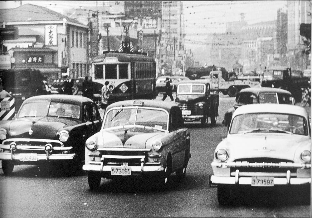 タクシー車両 昭和27年ごろ